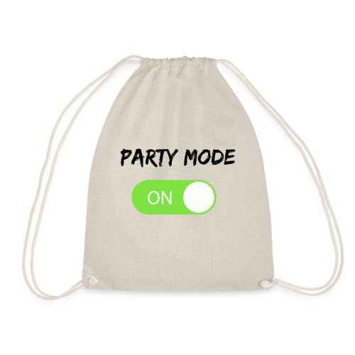 Party mode on tshirt - Gymtas