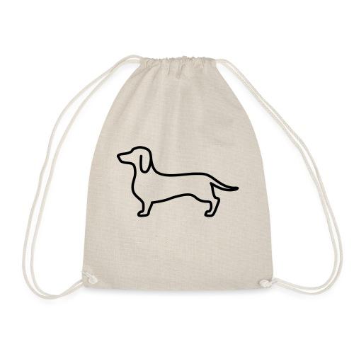 sausage dog - Drawstring Bag