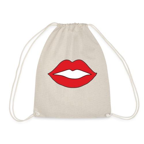 Rote Lippen Mund - Turnbeutel