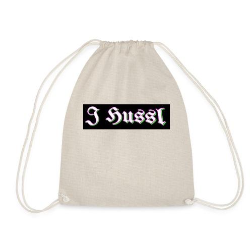 J Hussl T shirt logo design - Drawstring Bag