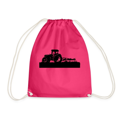 Tractor with cultivator - Drawstring Bag