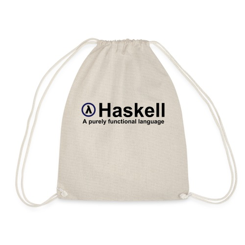 Haskell, A purely functional language (for fully - Drawstring Bag