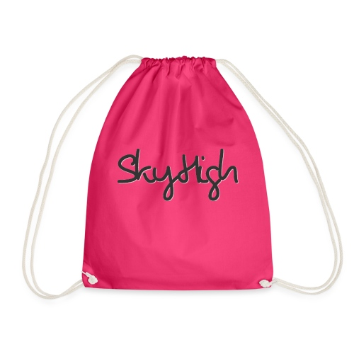 SkyHigh - Women's Premium T-Shirt - Black Lettering - Drawstring Bag