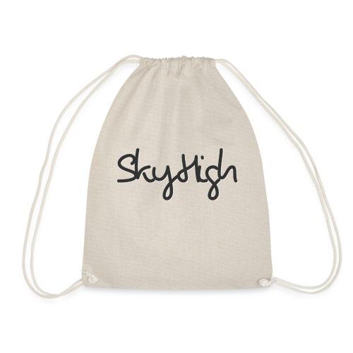 SkyHigh - Women's Premium T-Shirt - Black Lettering - Drawstring Bag