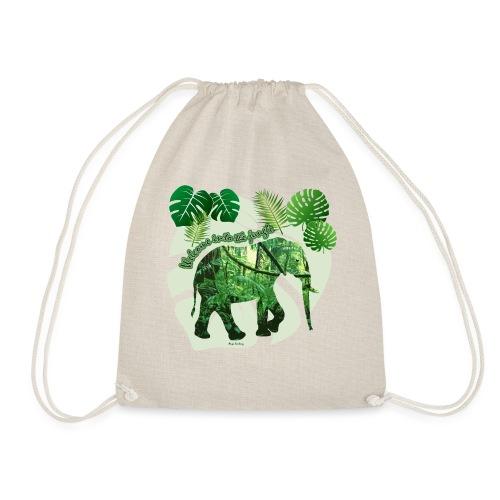 Dschungel - Elefant - Loxodonta cyclotis - Turnbeutel