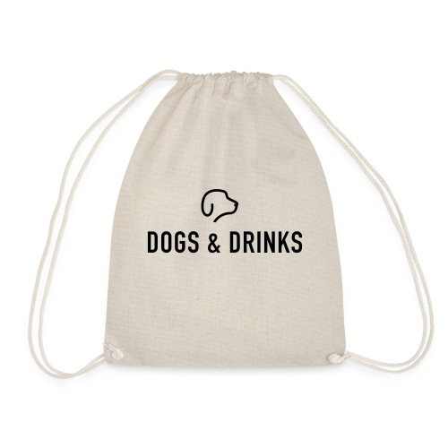 logo dogs and drinks zwart lettertype - Sac de sport léger