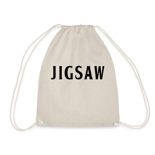 JigSaw Black - Drawstring Bag