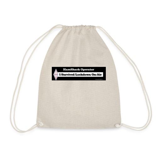 Tshirt Back Text ISurvived - Drawstring Bag