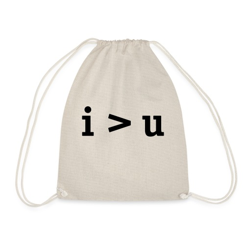 i'm greater than you (iu) - Drawstring Bag