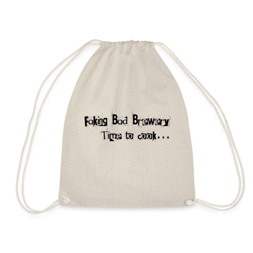 Faking Bad Brewery Text - Drawstring Bag