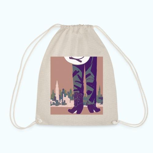 Texas vintage travel poster - Drawstring Bag