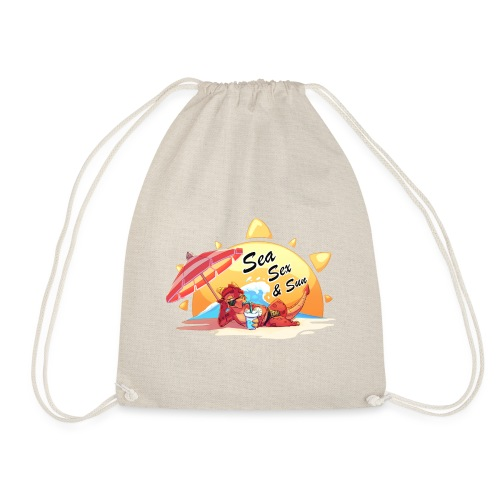 Sea, sex and sun - Drawstring Bag