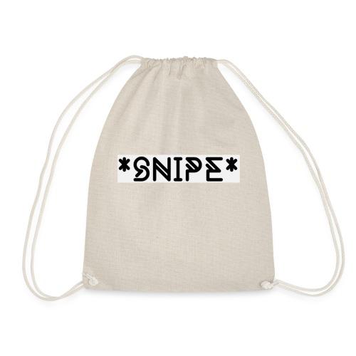 *SNIPE* Box Logo white - Turnbeutel