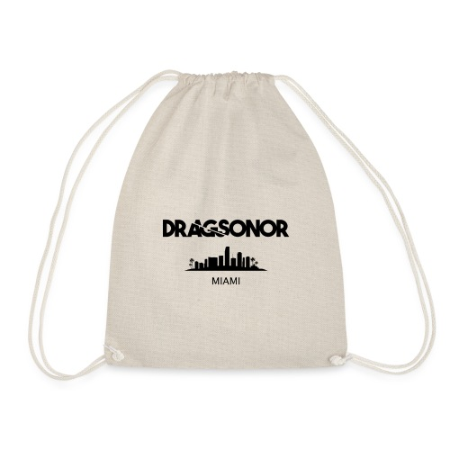 DRAGSONOR Miami skyline - Drawstring Bag