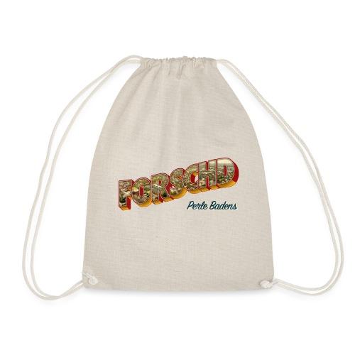 Forschd - Perle Badens - Vintage-Logo mit Luftbild - Turnbeutel