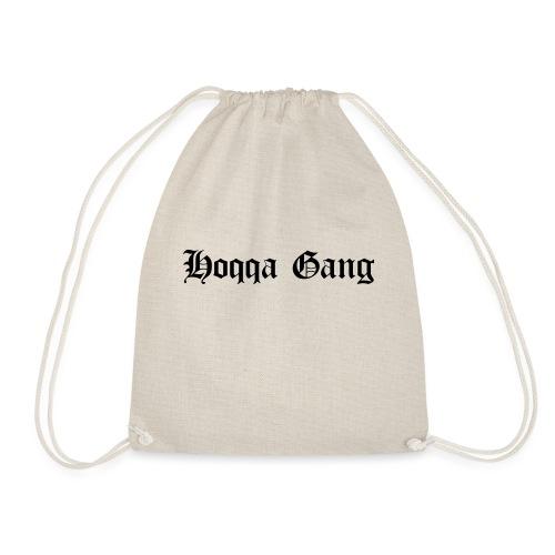 Schriftzug: Hoqqa Gang - Turnbeutel