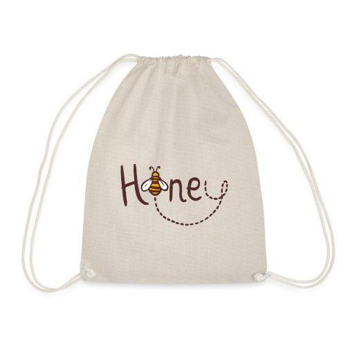 Honey Logo Druck mit Biene - Turnbeutel