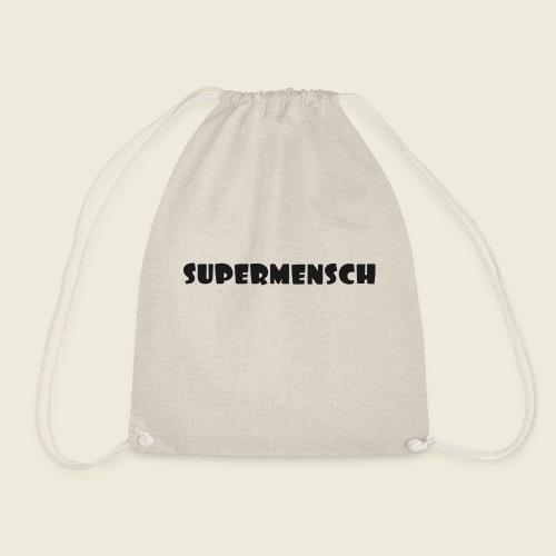 Supermensch in schwarz 2 - Turnbeutel