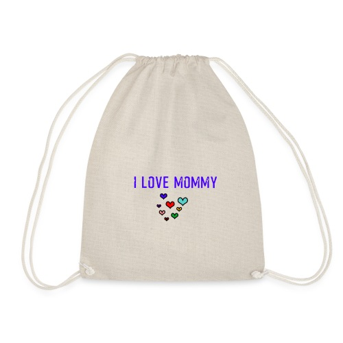 I love Mommy - funny Design - Turnbeutel