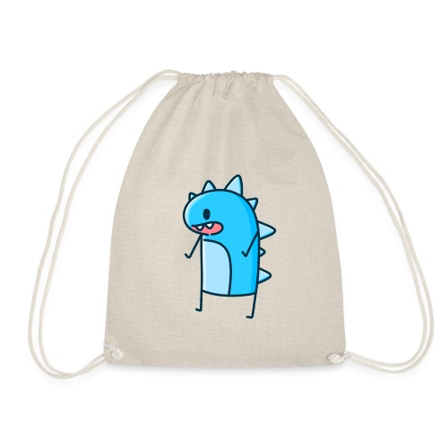 Blue Dancing Dino - Drawstring Bag