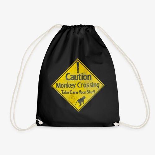 Caution Monkey Crossing - Turnbeutel