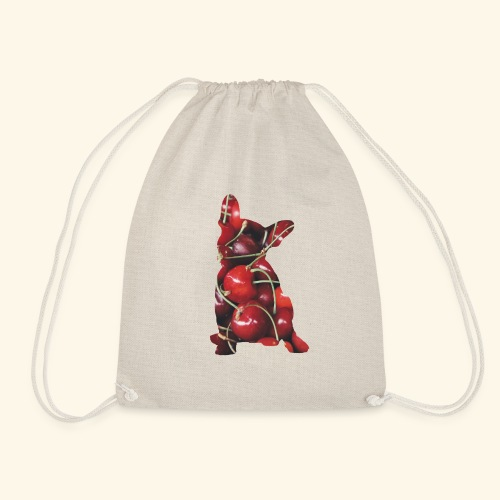 Cherry frenchie - Drawstring Bag
