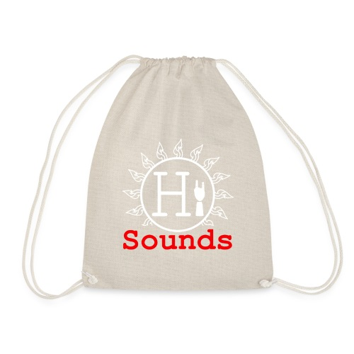 Logo Hi-Sounds Quadrat weiss - Turnbeutel
