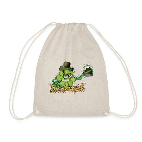 Shamrock with the beer - Drawstring Bag