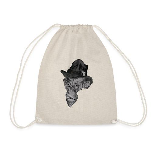 Monkey in the hat - Drawstring Bag