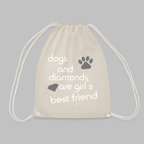 dogs and diamonds are girls best friend - Turnbeutel