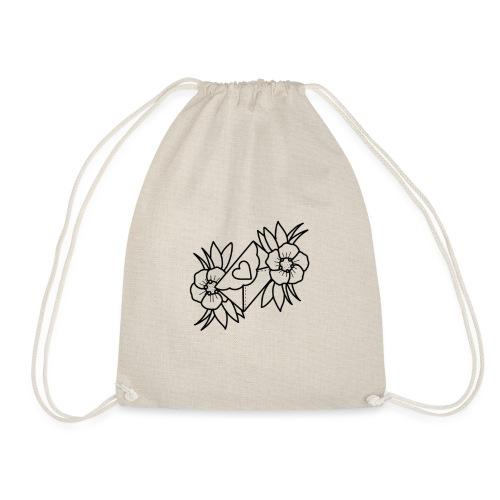 Love- flowers - Drawstring Bag