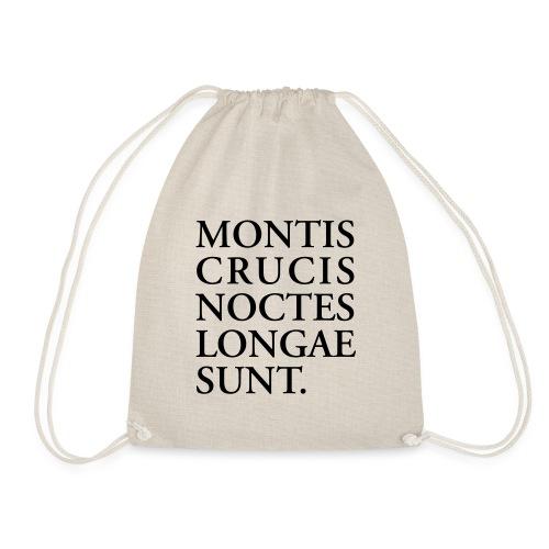 MontisCrucis schwarz auf weiß - Turnbeutel