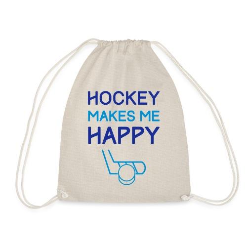 Hockey Makes Me Happy - Drawstring Bag