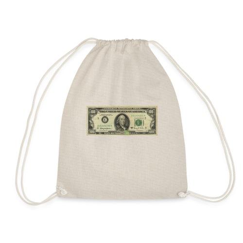 100 american dollars banknote - Turnbeutel