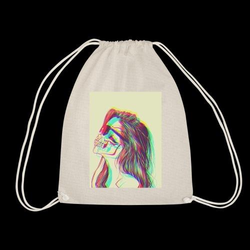The girl with demons - Drawstring Bag