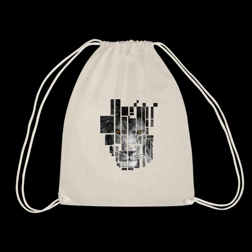 Pixel Lion Tattoo Inspire - Drawstring Bag