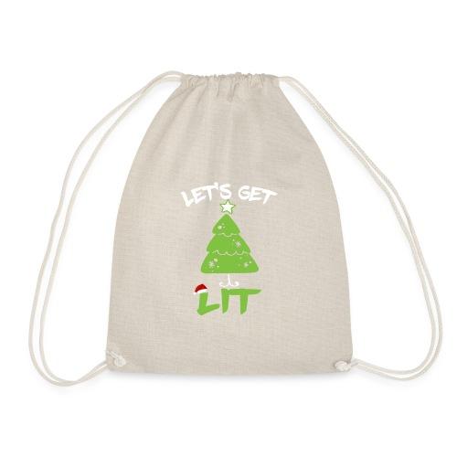 Let's Get Lit T-shirt - Funny Christmas Shirt - Mochila saco