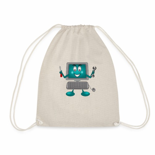 FUNNY COMPUTER TECHNICIAN ENGINEER IT SCREEN FACE - Drawstring Bag