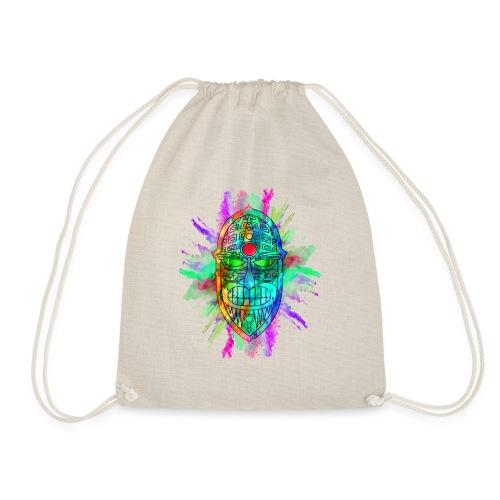 Watercolour Tiki Mask - Drawstring Bag