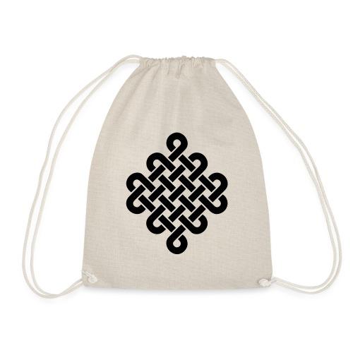 Unendlich Symbol Tattoo Buddhismus Knoten endlos - Turnbeutel