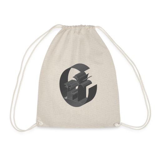3D Miami Palm Trees Badge - Drawstring Bag