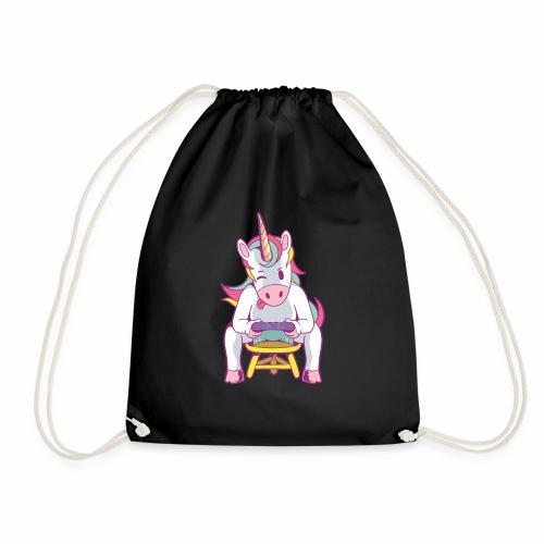 gamer unicorn - Turnbeutel