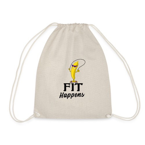 Fit Happens Banana - Turnbeutel