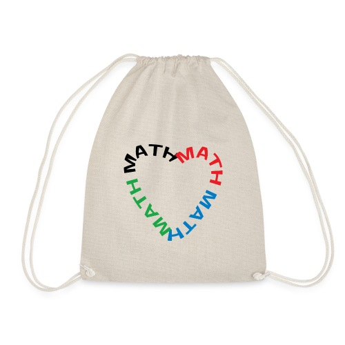 Math Text Heart - Drawstring Bag