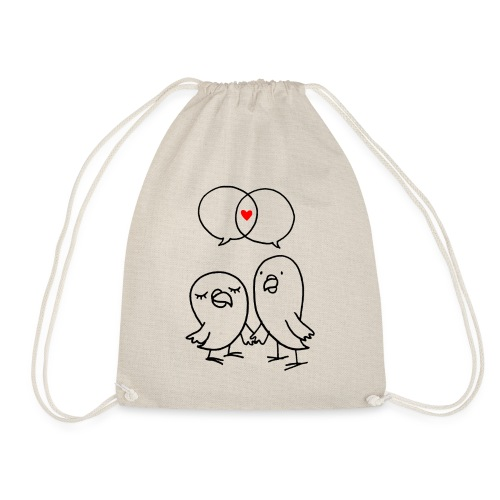 Love Birds - Drawstring Bag