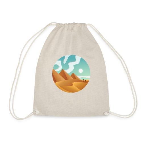 Journey Through Sands - Drawstring Bag