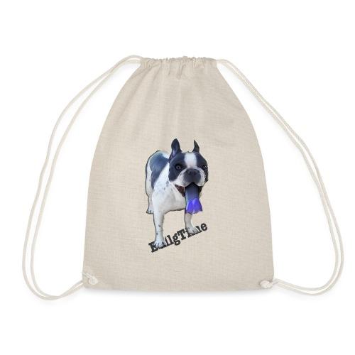 Bulldog francés. BullgTime. Dog Azul Turquis - Mochila saco