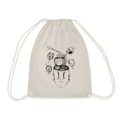 Spaghetti head - Drawstring Bag