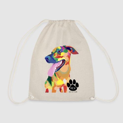 Big Tongue Dog - Drawstring Bag