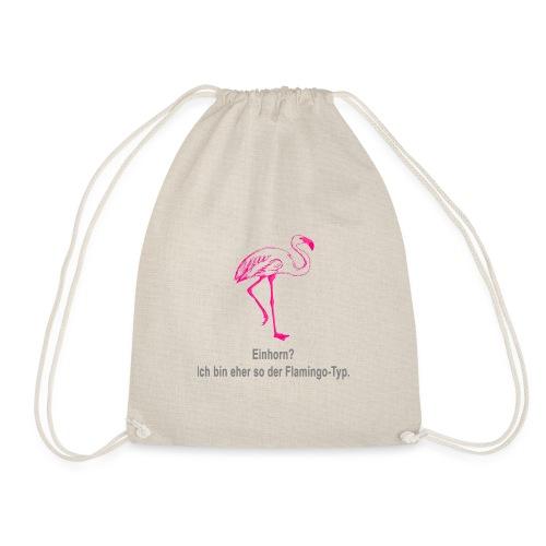 Einhorn? War gestern. Jetzt ist der Flamingo dran. - Turnbeutel